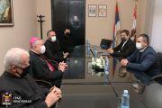 Пријем за београдског надбискупа Станислава Хочевара